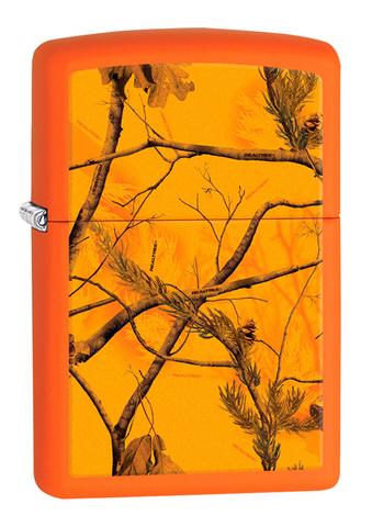 Зажигалка Zippo Realtree AP™ Blaze с покрытием Orange Matte, латунь/сталь, оранжевая, 36x12x56 мм123