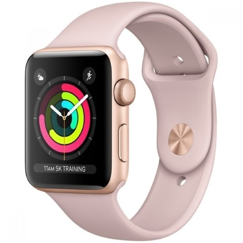 Watch S3 Cellular 42mm Gold Al/Pink Sport Band