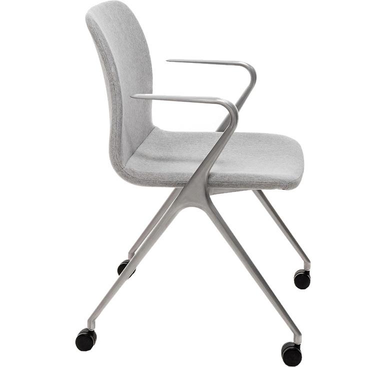 Кресло Hanson Meeting серая ткань / матовый алюминий - вид 3