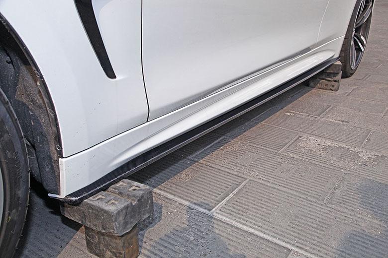 Карбоновые лезвия под пороги Hamman Style для BMW 4er