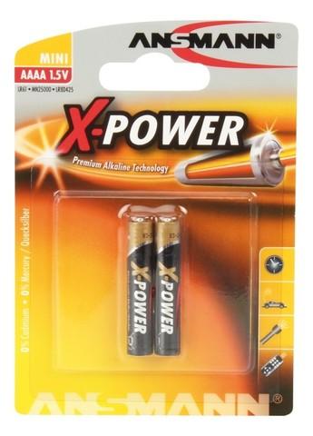 Батарейка X-POWER АААА/ANSMANN 1.5V - 2шт