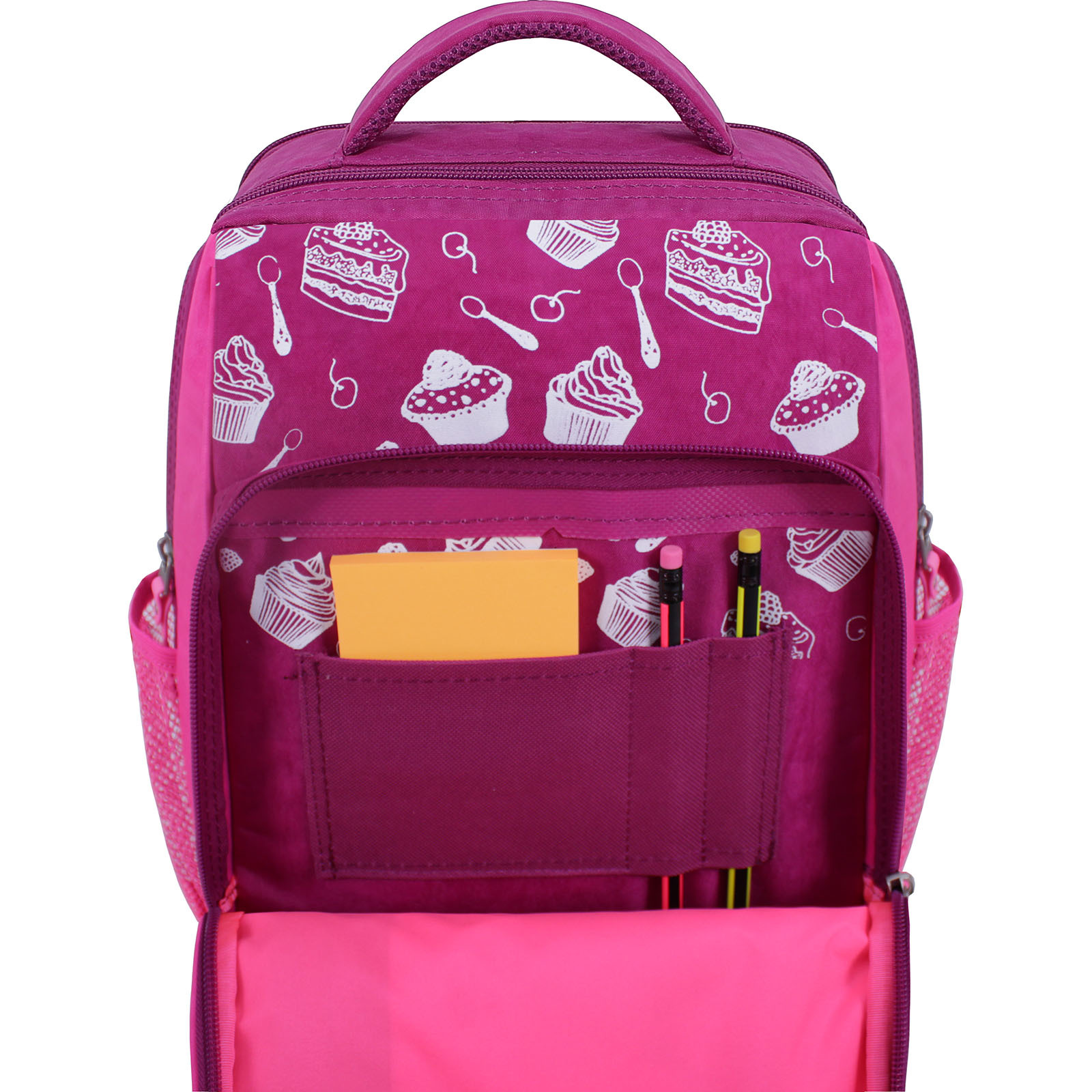 Рюкзак школьный Bagland Школьник 8 л. 143 малиновый 593 (0012870) фото 4