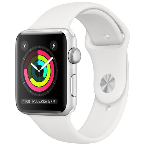 Watch S3 Cellular 42mm Silver Al/White Sport Band
