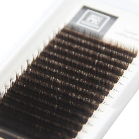 Тёмно-коричневые ресницы BARBARA МИКС (C 0.07 7-15mm)
