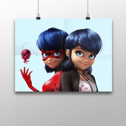 Плакат с Маринетт и Леди Баг