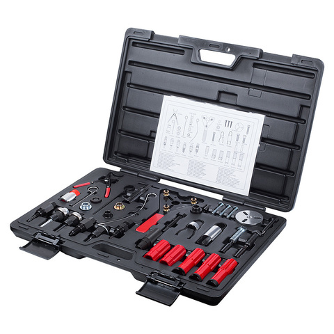 МАСТАК (105-30037C) Набор для обслуживания компрессора кондиционера, кейс, 37 предметов