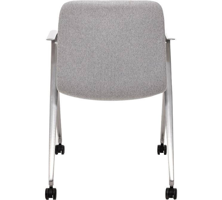 Кресло Hanson Meeting серая ткань / матовый алюминий - вид 5