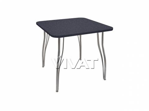 Стол обеденный квадратный LС (ОС-12) Черный камень