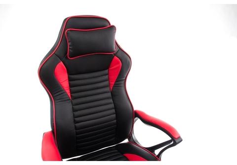 Офисное кресло для персонала и руководителя Компьютерное Leon красное / черное 68*68*128 Черный / красный