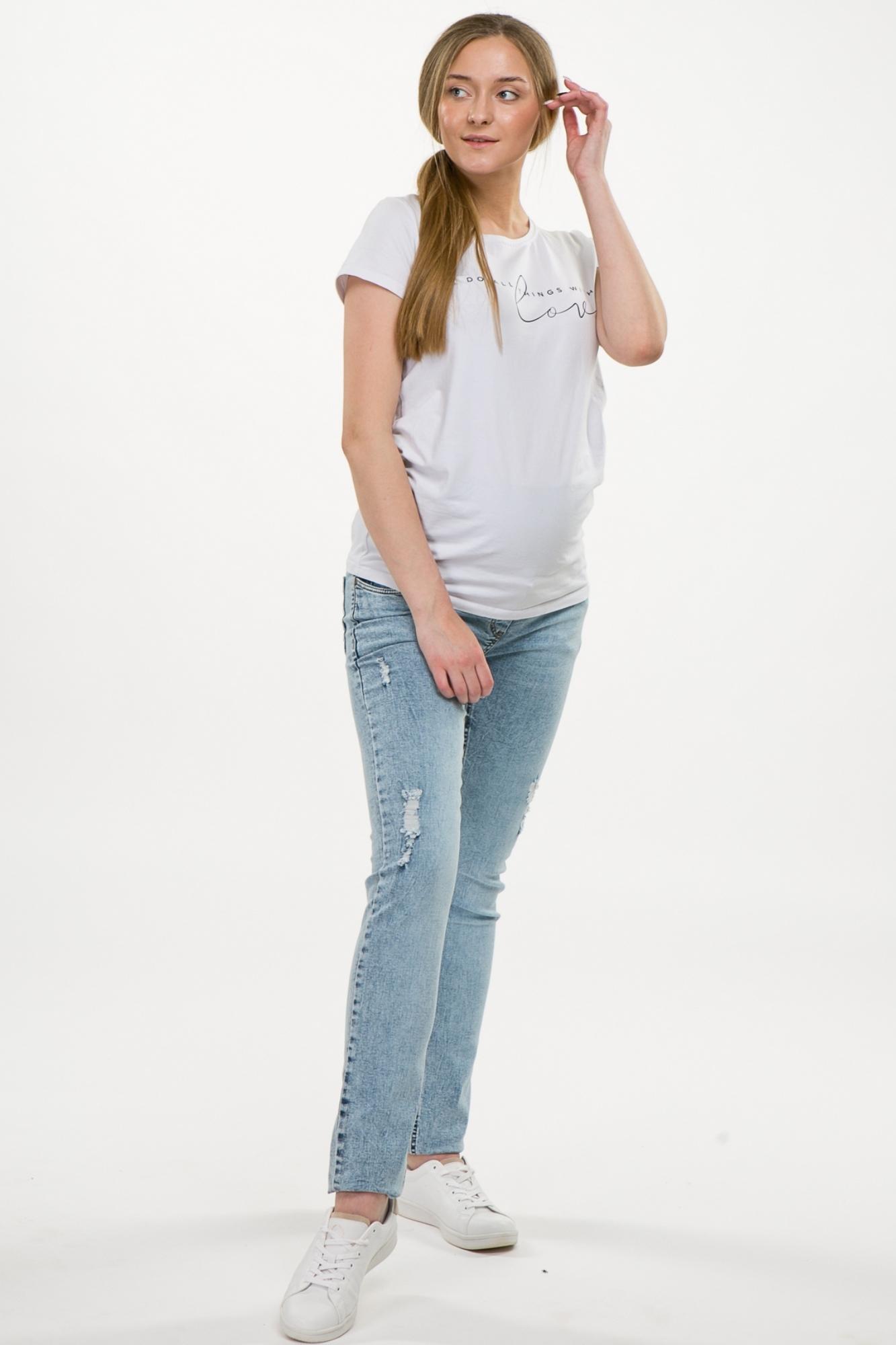 Джинсы для беременных (SLIM) 09269 синий