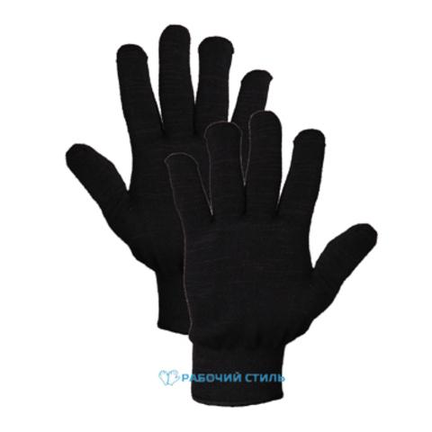 Утепленные перчатки полушерстяные двойные