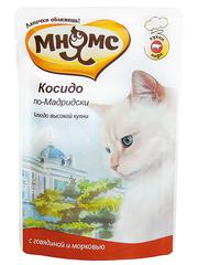 Пауч для кошек Мнямс  Косидо по-Мадридски (говядина с морковью)