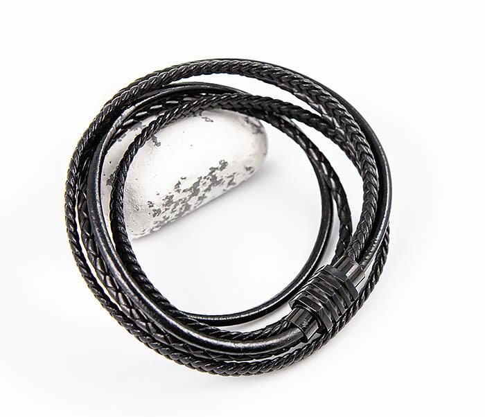 BM561-1 Двойной браслет из кожаных шнуров