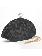 Клатч черного цвета необычной формы