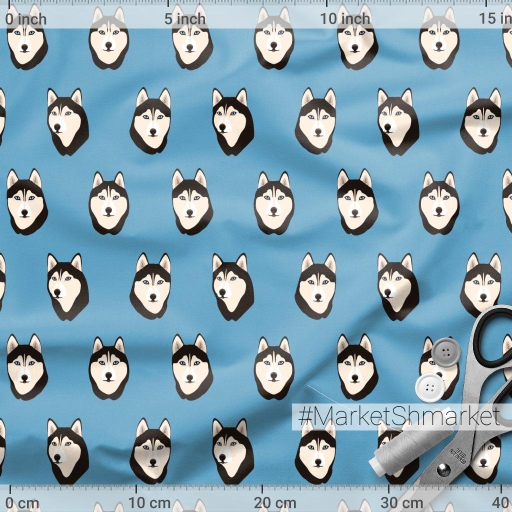 Собаки хаски (головы)
