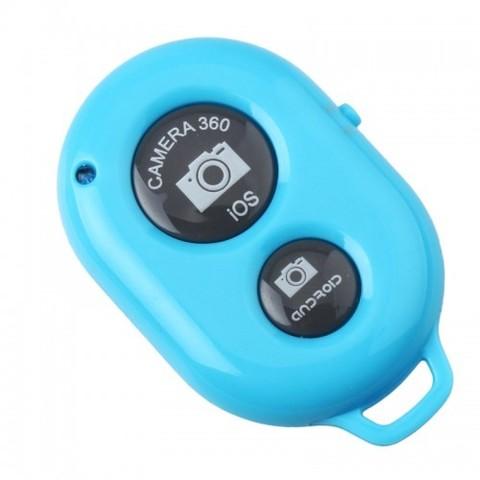 Пульт управления фотокамерой смартфона Bluetooth-кнопка Android и iOS голубой1