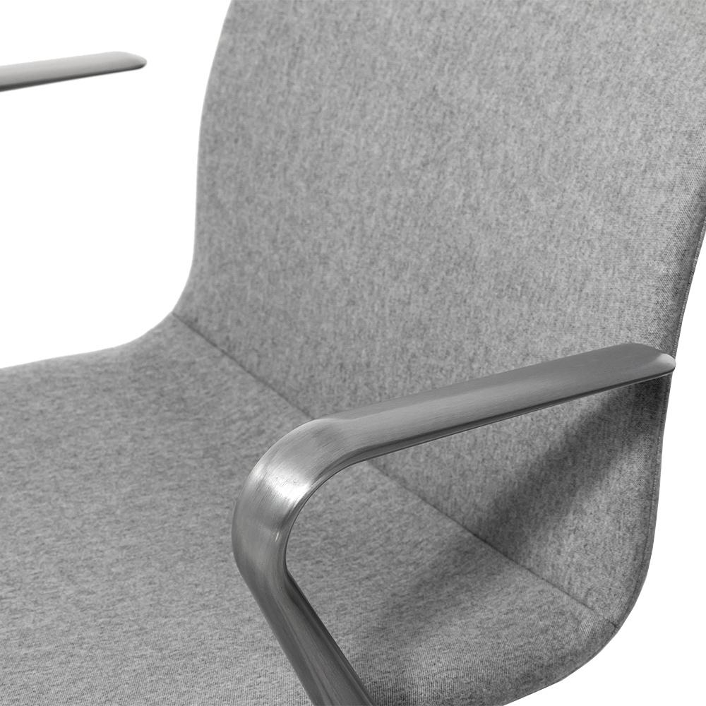Кресло Hanson Meeting серая ткань / матовый алюминий - вид 6