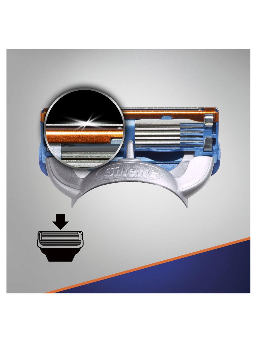 Сменные кассеты для бритья Gillette Fusion Power 4шт