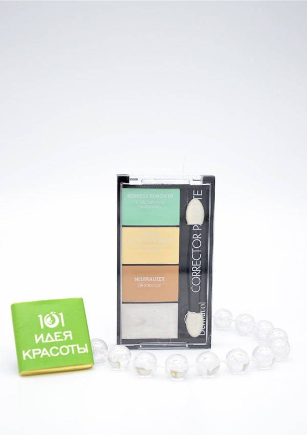 Dermacol Corrector Palette 4х-цветная палитра корректоров и хайлайтера, 9гр