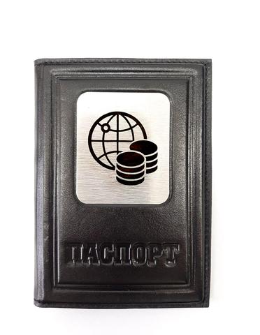Обложка на паспорт | Финансисту| Чёрный
