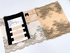 Набор 1. Минимальный: для пошива бра без каркасов и трусиков. Беж и черный (EK-2273), шт