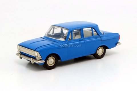 Moskvich-412 blue (plastic bottom) Agat Tantal Made in USSR 1:43