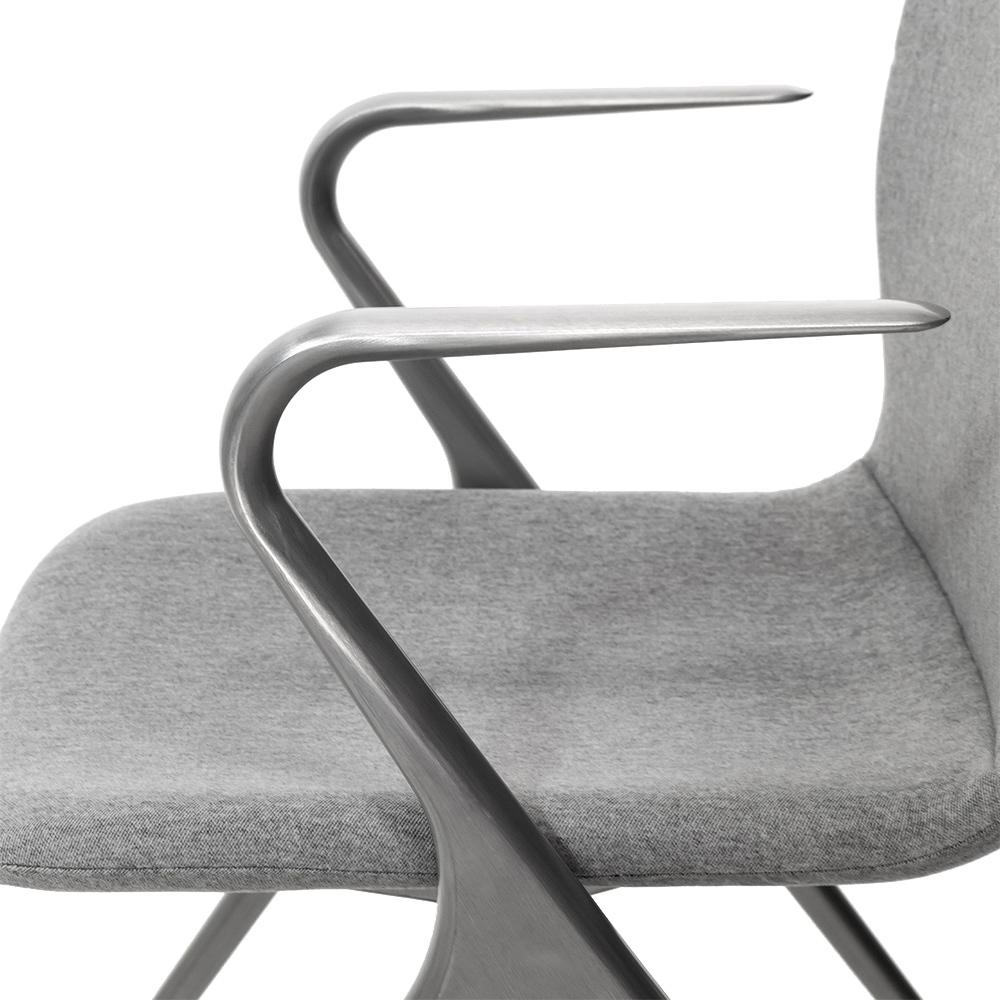 Кресло Hanson Meeting серая ткань / матовый алюминий - вид 7