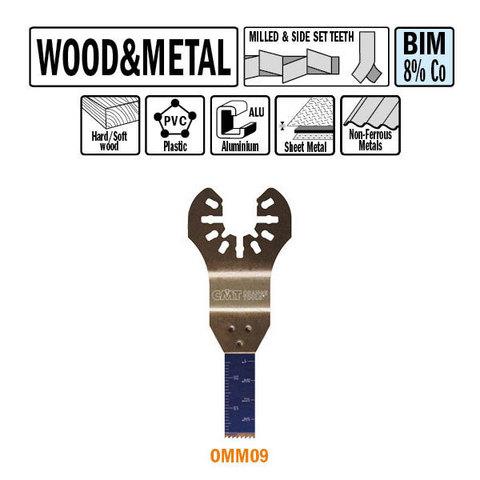 Погружное пильное полотно 10 мм для древесины и металла