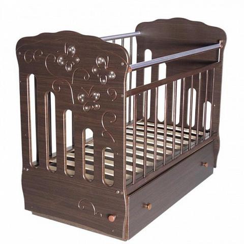 Кроватка детская Бабочка маятник поперечный с ящиком