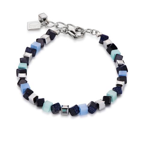 Браслет Coeur de Lion 4911/30-0737 цвет синий, голубой, серый