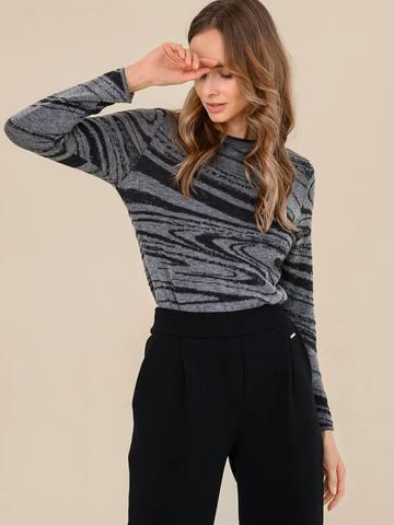 Женский джемпер серого цвета из 100% шерсти - фото 3