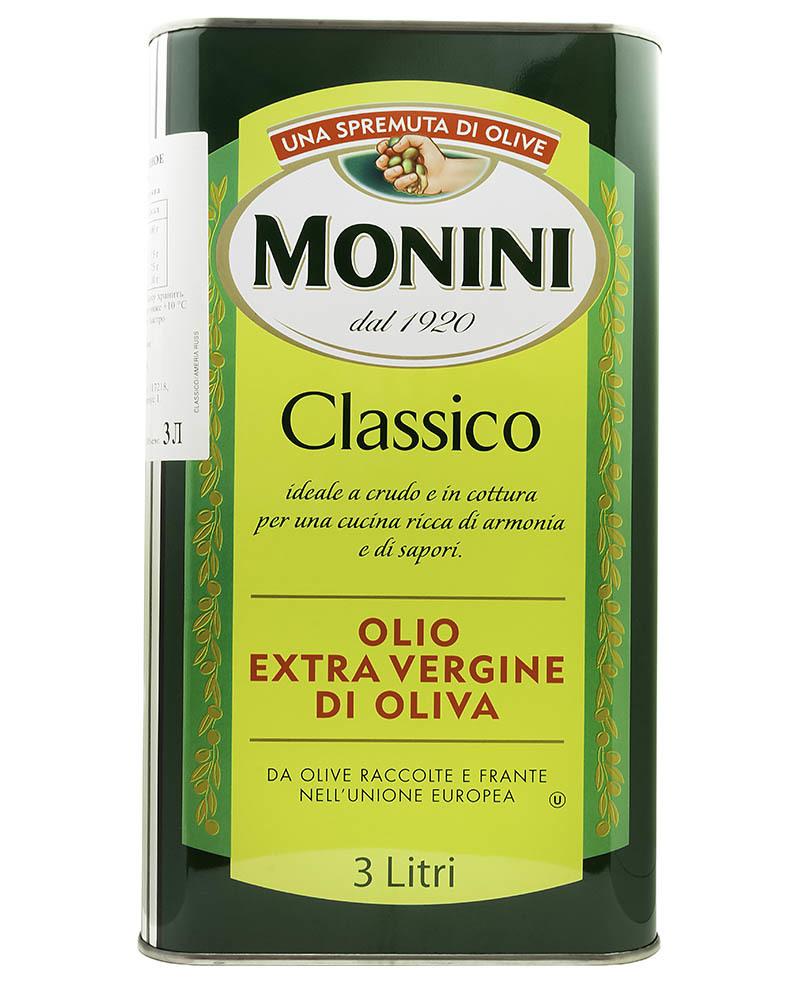 Масло оливковое Monini Экстра Вирджин Классико 3л