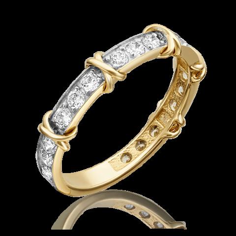 01-5373-00-501-1130-38 - Кольцо Sixteen из желтого золота 585 пробы