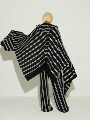 Женский шарф из шерсти в полоску - фото 3