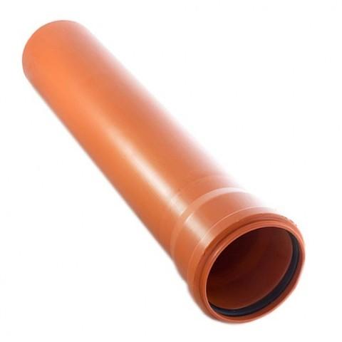 Труба канализационная D110х500 оранж. - Контур