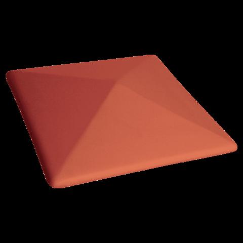 Колпак для столбов забора King Klinker, Рубиновый красный (01) Ruby red, 445x585x106