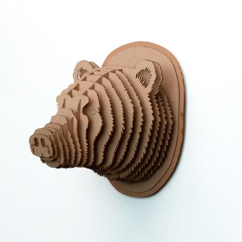Голова Медведя ДекорКоми на стену (3D конструктор)