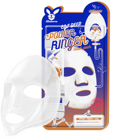 Elizavecca Тканевая маска с эпидермальным фактором EGF Deep Power Ringer Mask Pack, 1 шт