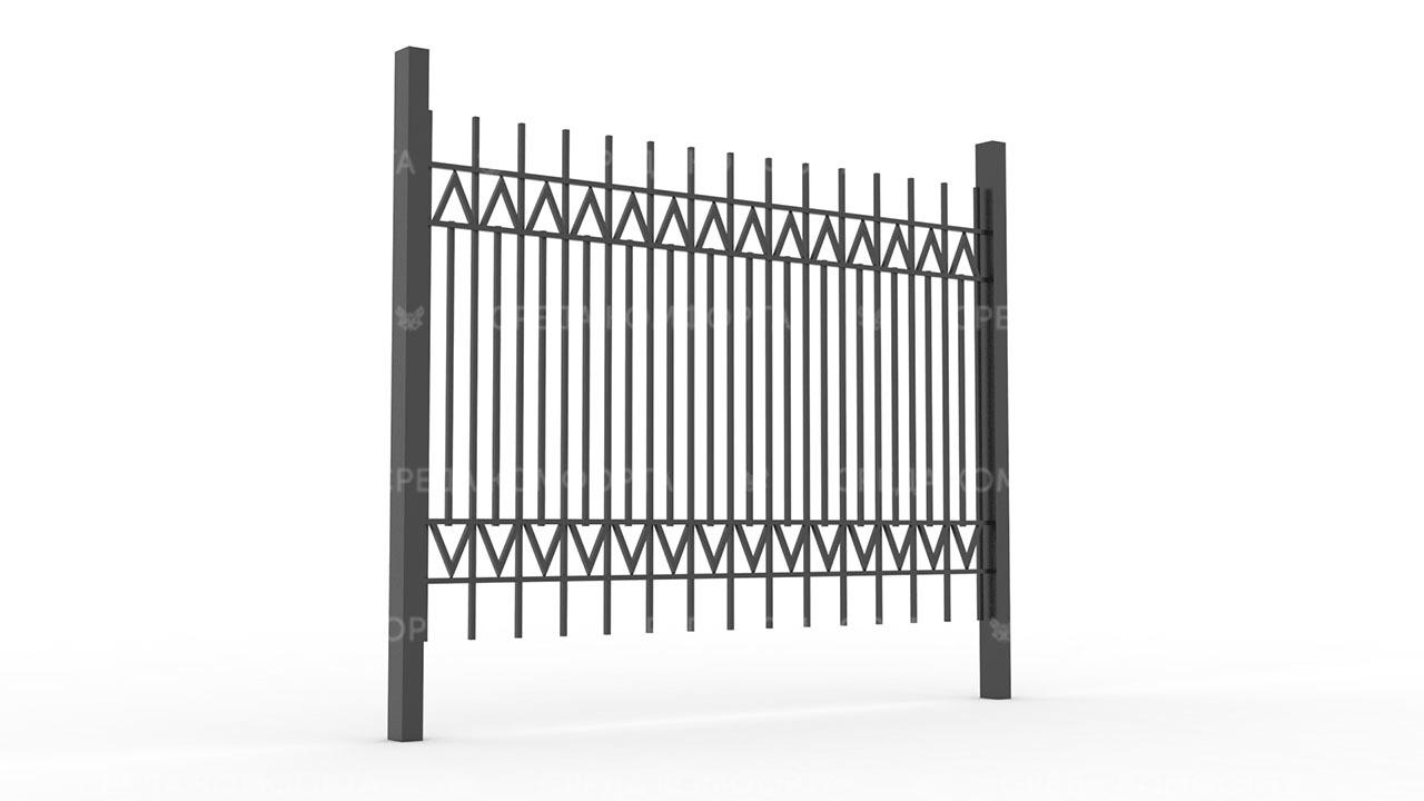 Забор из профильной трубы ZBR0147