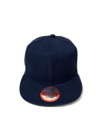 Бейсболка с прямым козырьком, синяя