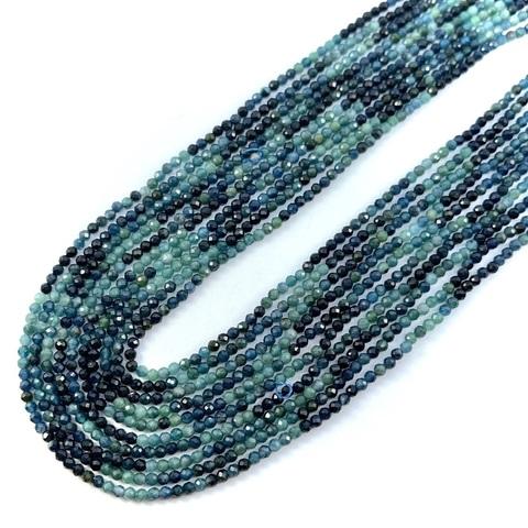 Бусины турмалин голубой A граненый 2,5 мм цена за 155 бусин (~39 см)