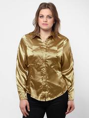 0839-1 рубашка женская, коричневая