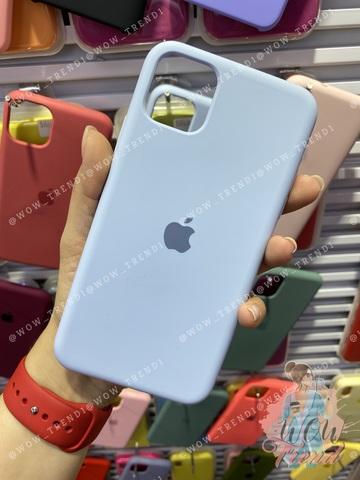 Чехол iPhone 11 Silicone Case /lilac cream/ голубой 1:1