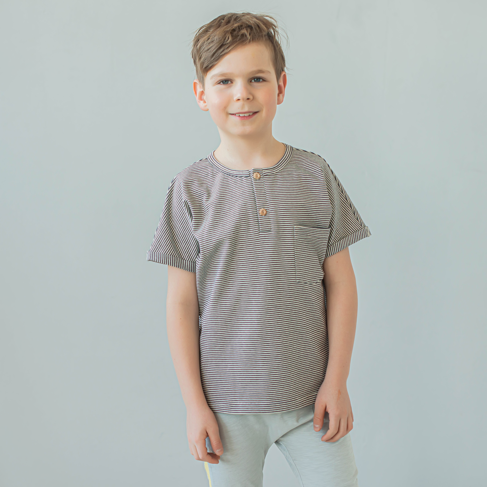 Polo T-shirt for teens - Striped