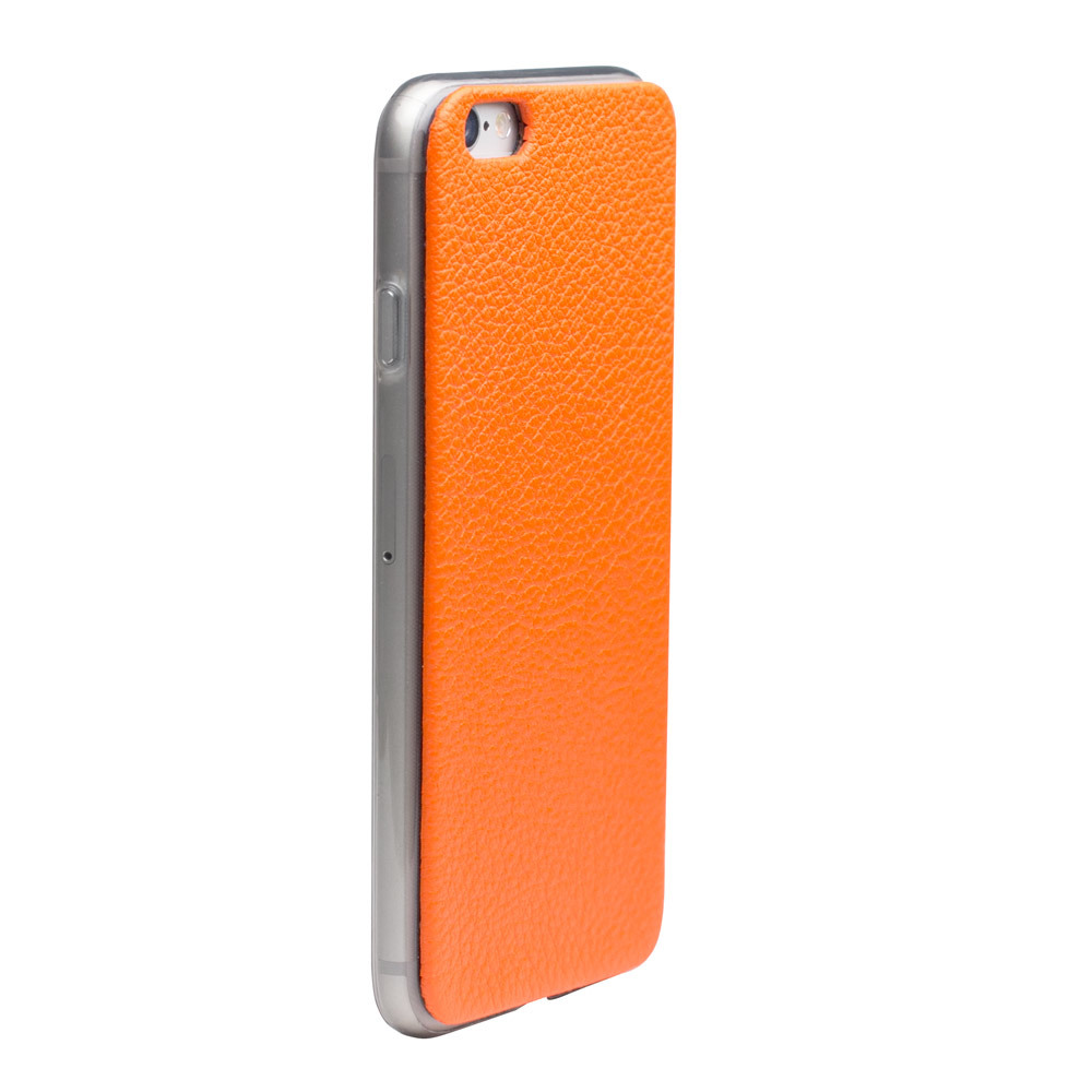 Чехол-накладка для iPhone 6/6S из натуральной кожи теленка, оранжевого цвета