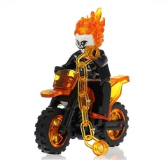 Призрачный Гонщик на мотоцикле минифигурка