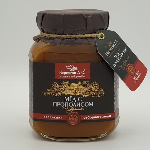 Мёд натуральный Алтайцвет с Прополисом БЕРЕСТОВ А.С., 500 гр