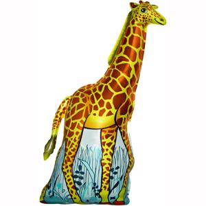 Фольгированный шар Жираф оранжевый 120 X 64см