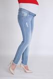 Джинсы для беременных (SLIM) 08707 синий