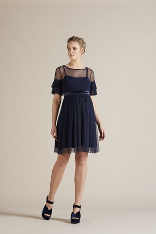 Платье для беременных 09782 темно-синий